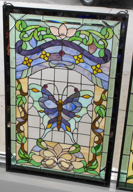 Old Leaded Glass Windows : Window glass vintage stained windows for sale