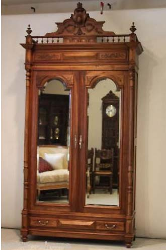 Double Door Original Beveled Mirrored French Armoire Towering Over 9u0027 Tall.  This Piece Would Make A Fabulous Armoire, Wardrobe, Bookcase, Gun Cabinet,  ...
