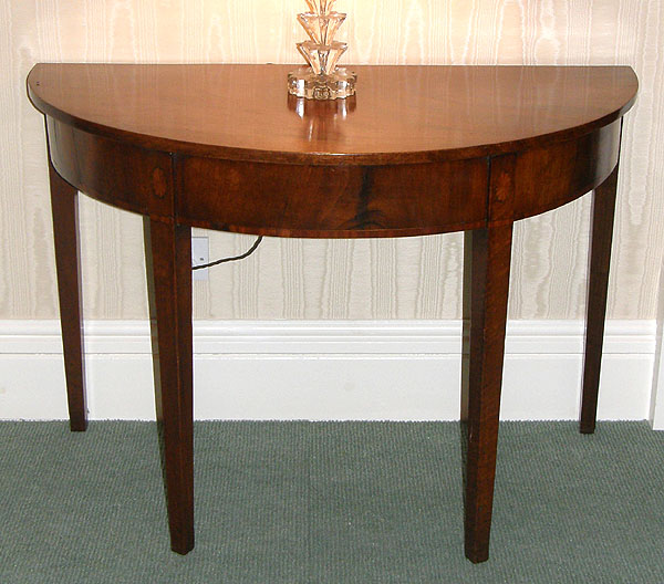 Pair Georgian Mahogany Console Tables For Sale