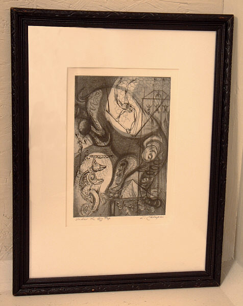 Letterio Calapai Under The Big Top Etching Item 4300