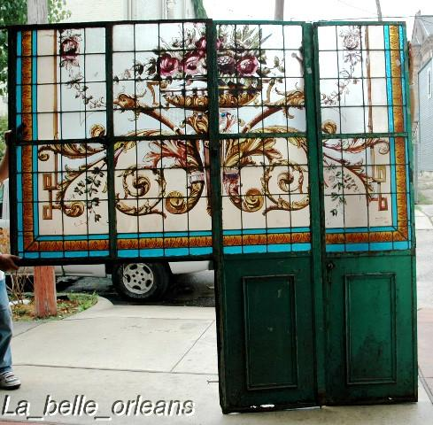stunning huge stained glass wall divider.9ft h x 7'8w! for sale