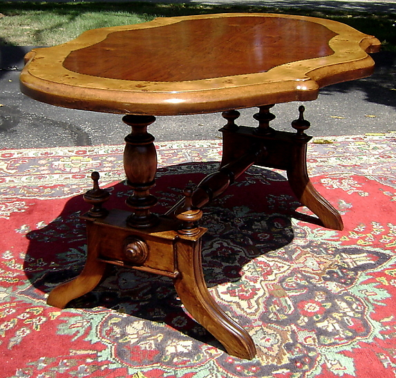 Elegance victorian 1930s walnut center table for sale classifieds - Vintage pieces of furniture old times elegance ...
