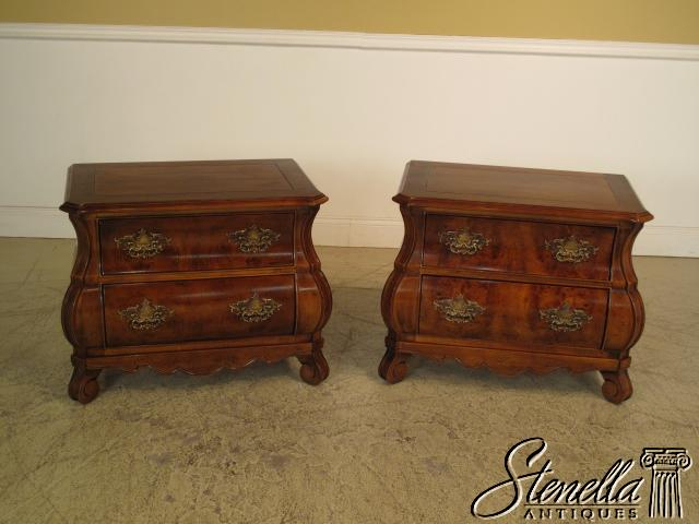 15307 Henredon Pair Walnut Nightstands For Sale