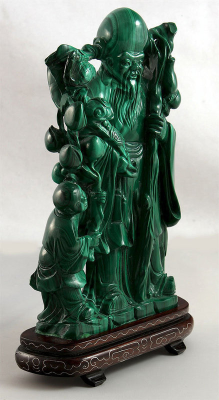 Chinese Sage Malachite Carving For Sale Antiques Com
