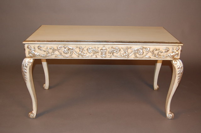 Genial French Painted Coffee Table   For Sale