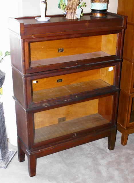walnut three stack lawyer or barrister bookcase for sale walnut three stack lawyer or