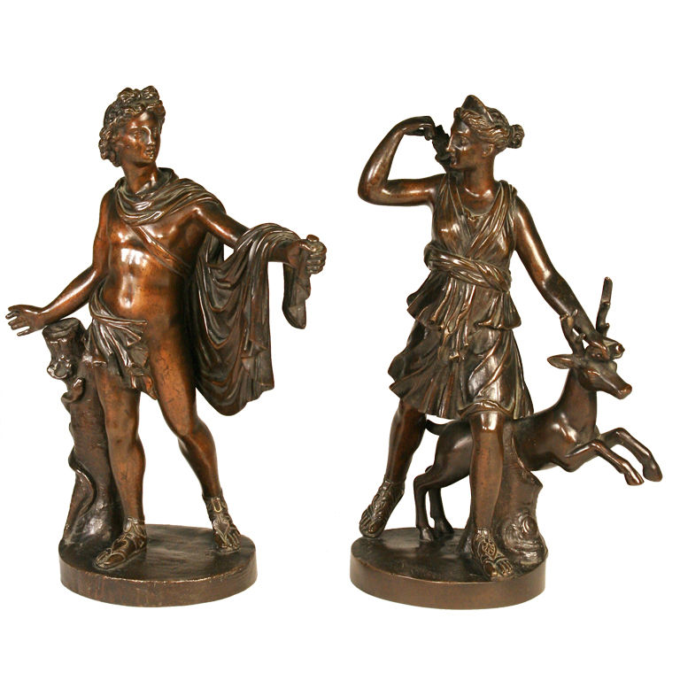 bronze sculptures of diana and apollo for sale classifieds. Black Bedroom Furniture Sets. Home Design Ideas
