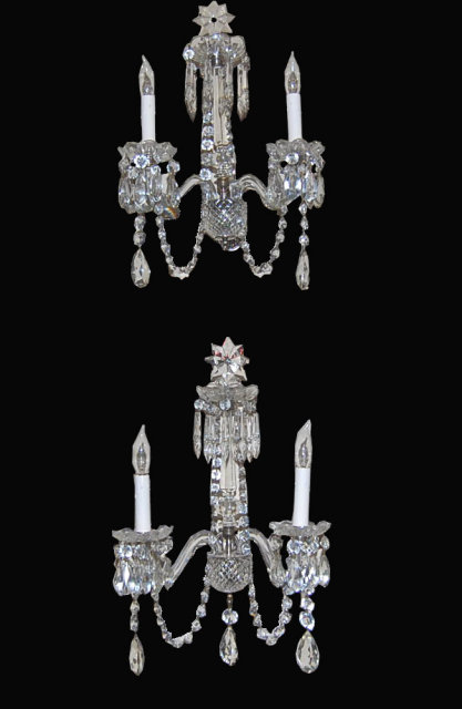 Pair of Irish Waterford Crystal Sconce For Sale Antiques.com Classifieds