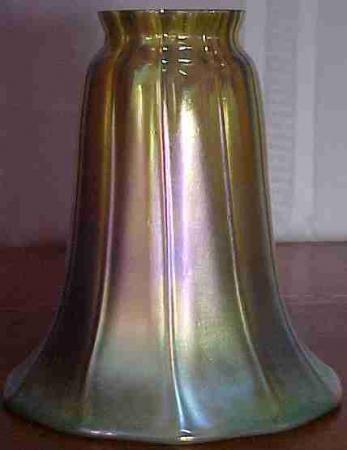 art glass shade gold trumpet 2 1 4 fitter for sale
