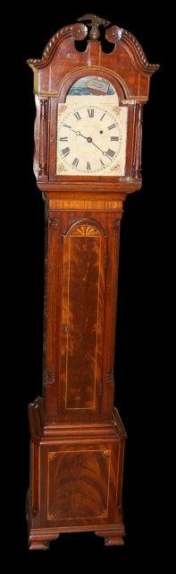American Mahogany Granddaughter Clock For Sale Antiques