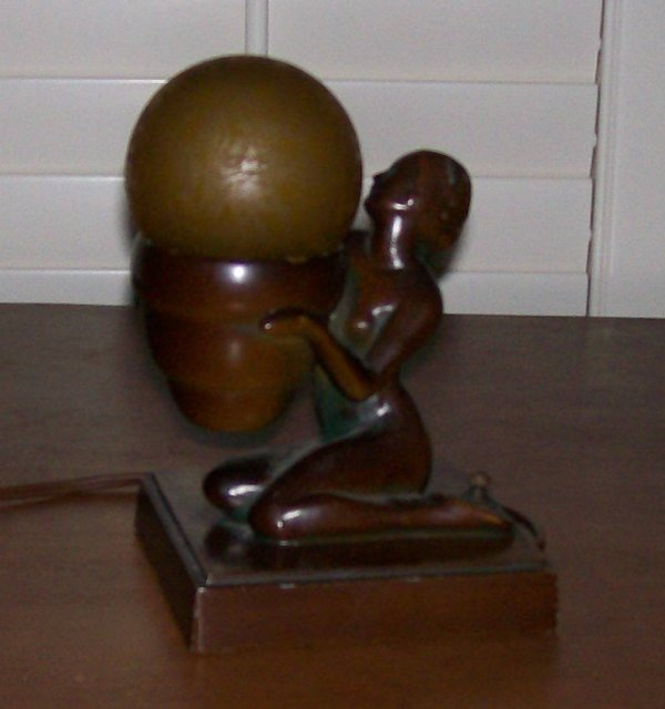 NuArt Art Deco Seated Lady Lamp For Sale Classifieds