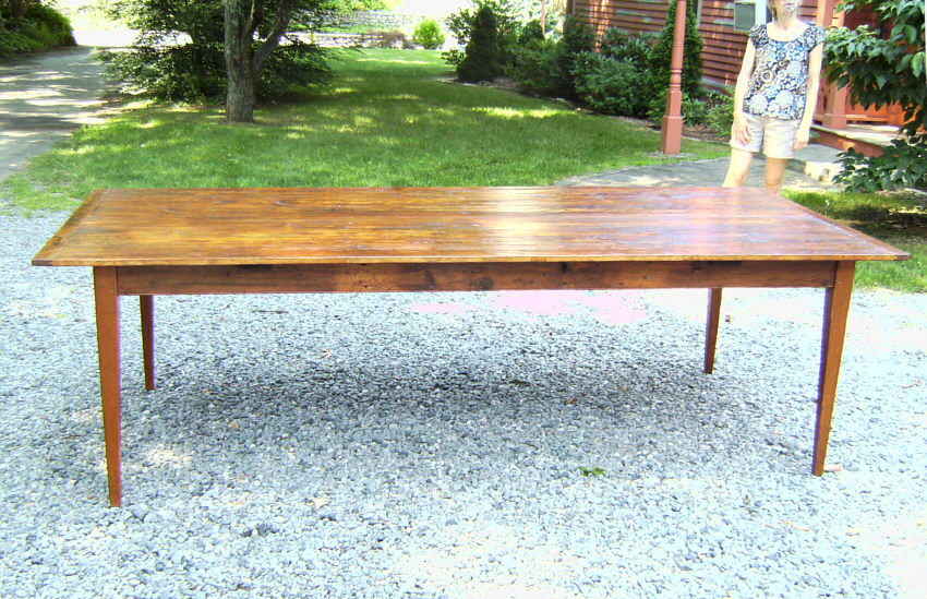 country kitchen pumpkin pine wide board dining table   item   7191   for sale country kitchen pumpkin pine wide board dining table   item   7191      rh   antiques com