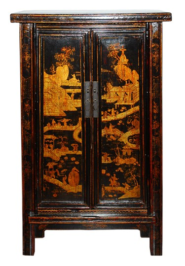 Antique Chinese Gilt Wedding Cabinet For Sale Antiques