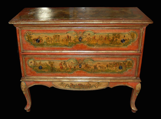 19th century hand painted venetian commode for sale classifieds. Black Bedroom Furniture Sets. Home Design Ideas