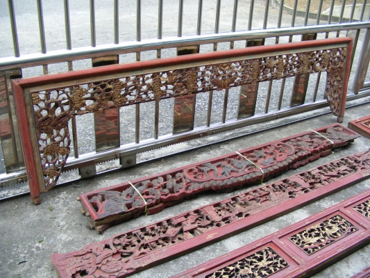 12 ANTIQUE BED PANEL Chinese Wedding Frame Board Nyonya For Sale ...