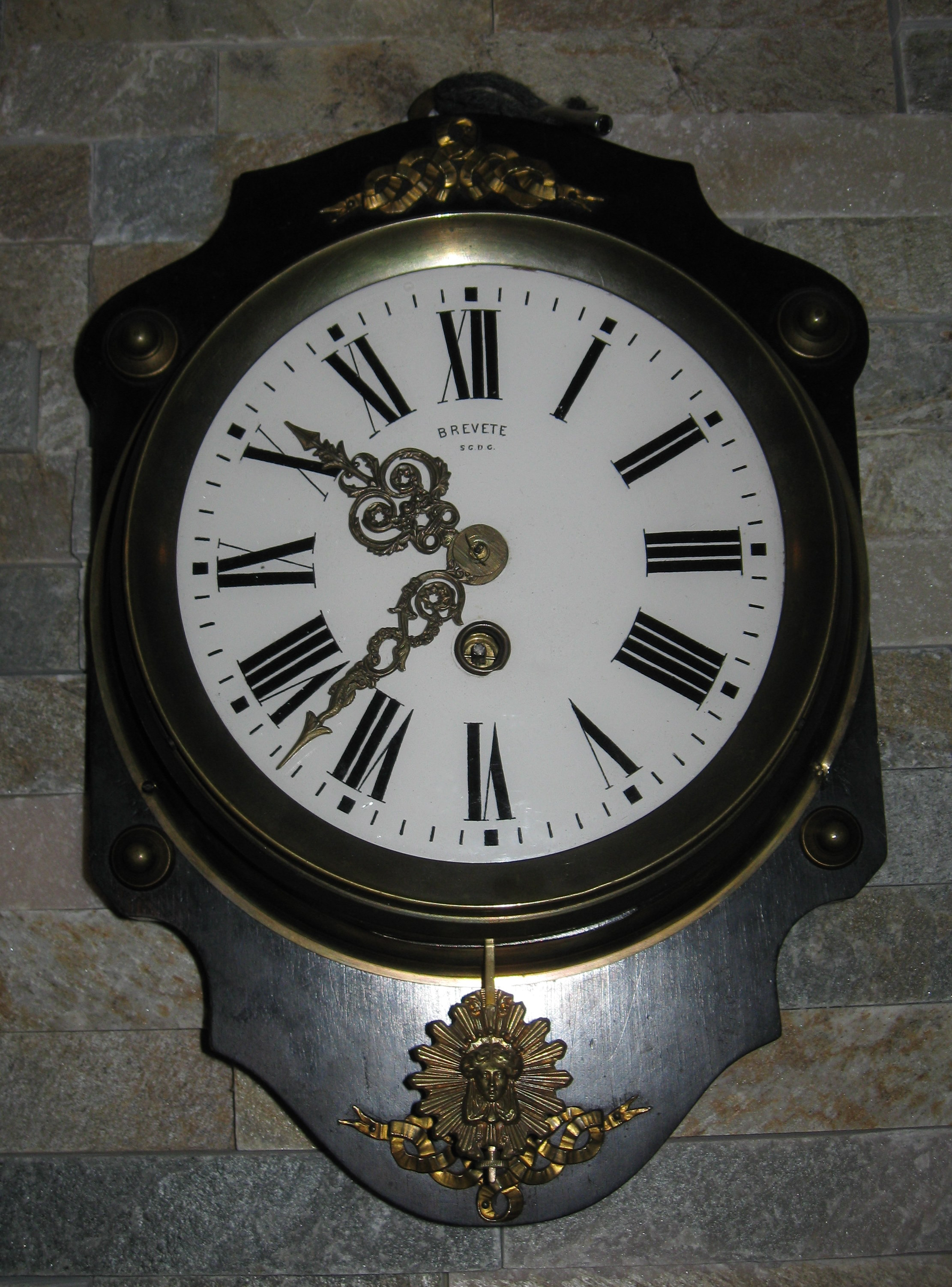 french wall clock late 1800s for sale