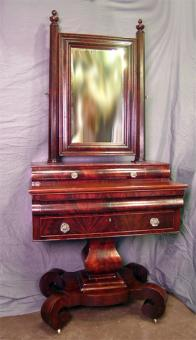 Period American Empire Dressing Chest For Sale Antiques
