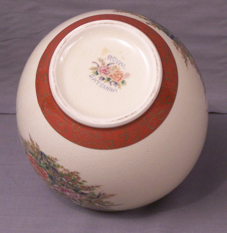 Royal Satsuma Porcelain Vase Item 6976 For Sale