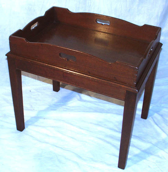 Vintage Butler Coffee Table: Antique Georgian Mahogany Butler's Tray / Coffee Table For