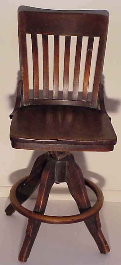 A Solid Oak Desk Chair Circa 1900 For Sale Classifieds