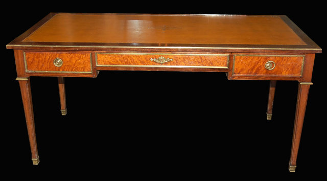 English Rosewood Leather Top Desk - For Sale - English Rosewood Leather Top Desk For Sale Antiques.com Classifieds