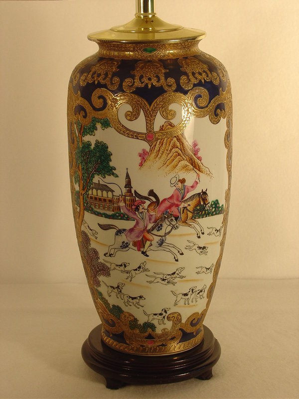 Contemporary Chinese Vase Now A Lamp For Sale Antiques
