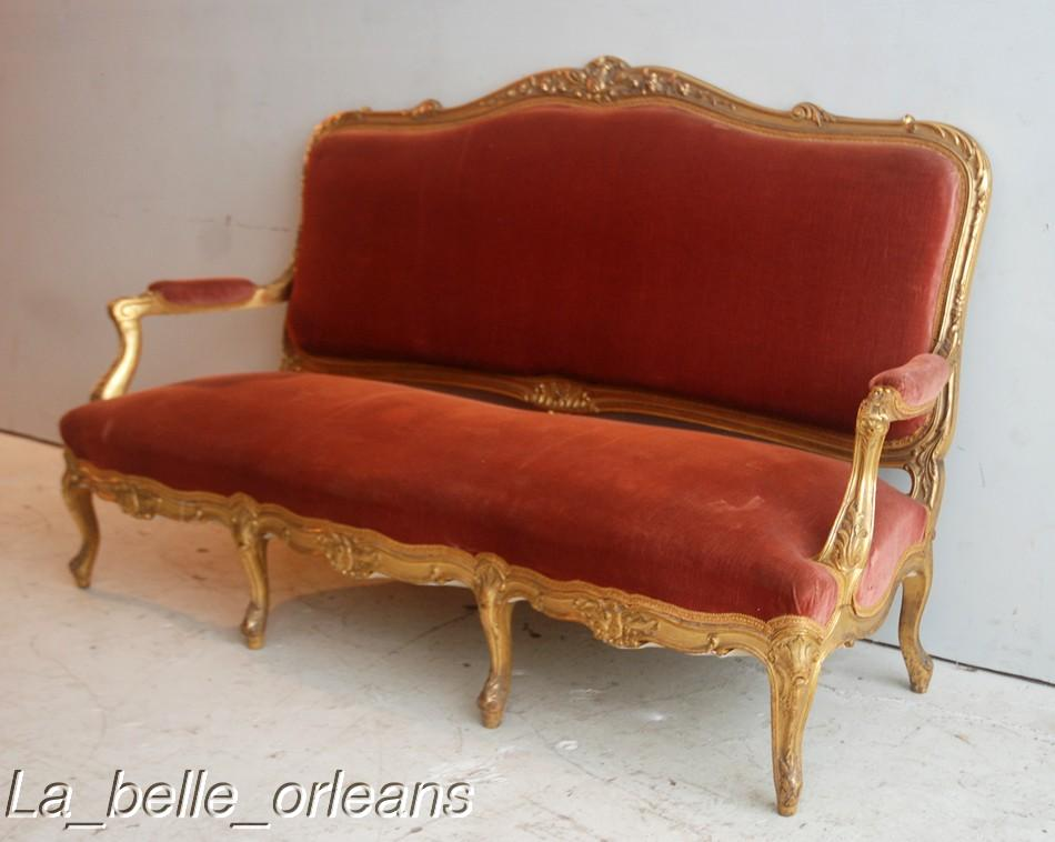 Best french 19thc lxv gilt salon sofa on e bay l k for for Salon sofa for sale