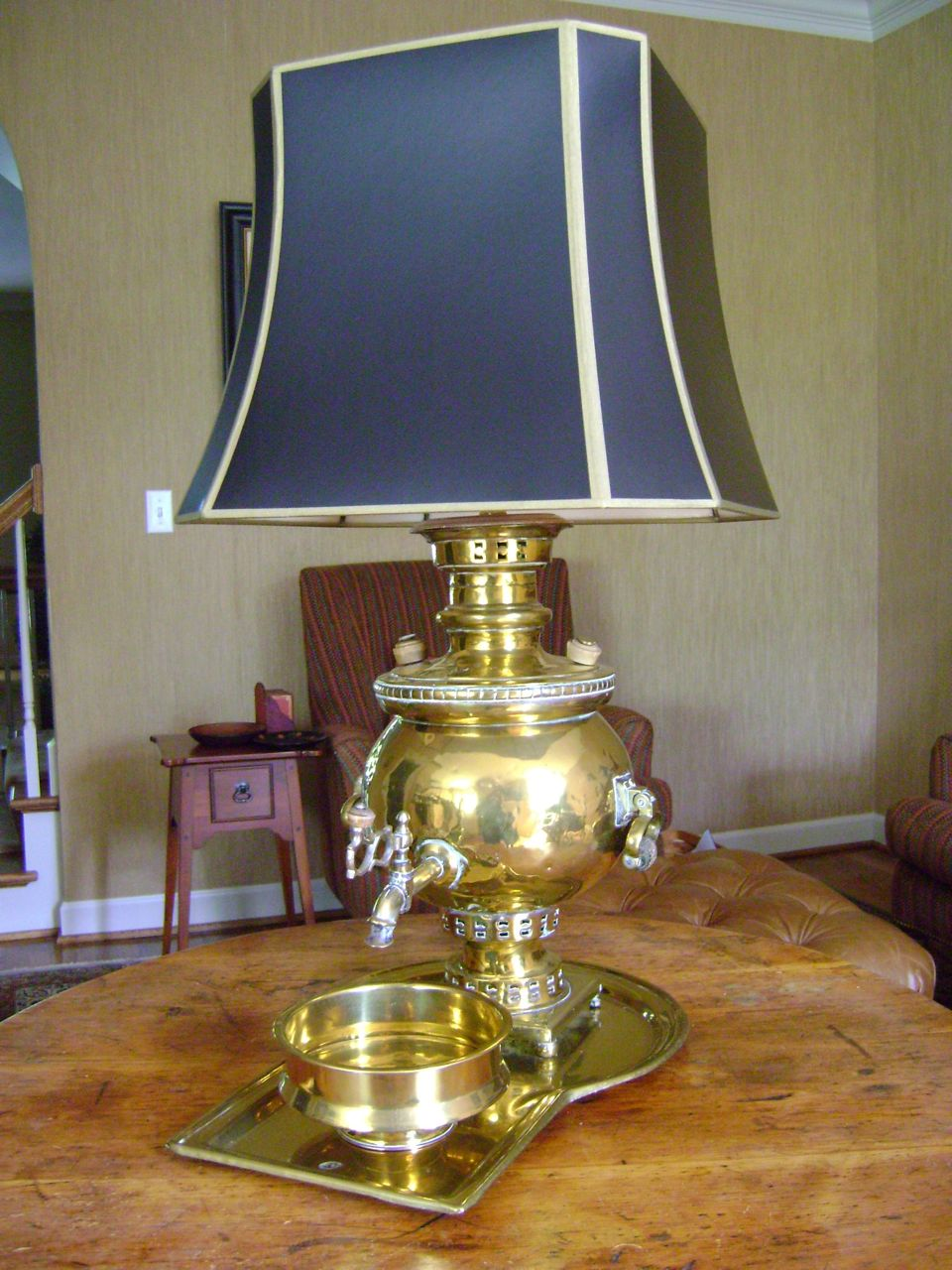 antique samovar brass lamp for sale classifieds. Black Bedroom Furniture Sets. Home Design Ideas