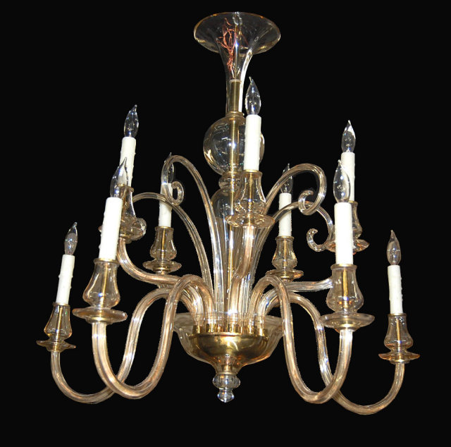 High style blown glass chandelier for sale Blown glass chandelier