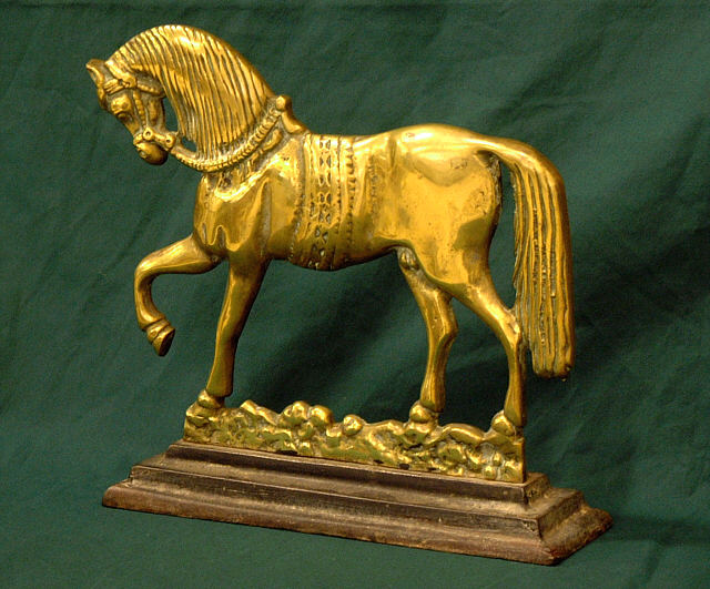 Antique Prancing horse brass door stop : Item # 4123 - For Sale - Antique Prancing Horse Brass Door Stop : Item # 4123 For Sale