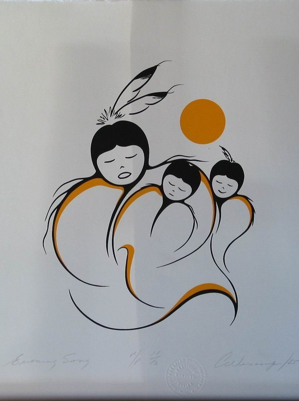 Canadian Aboriginal Artist Clemence Wescoupe For Sale