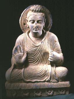Gandhara Schist Sculpture Of The Seated Buddha Pf 4359 Lso For Sale Antiques Com Classifieds