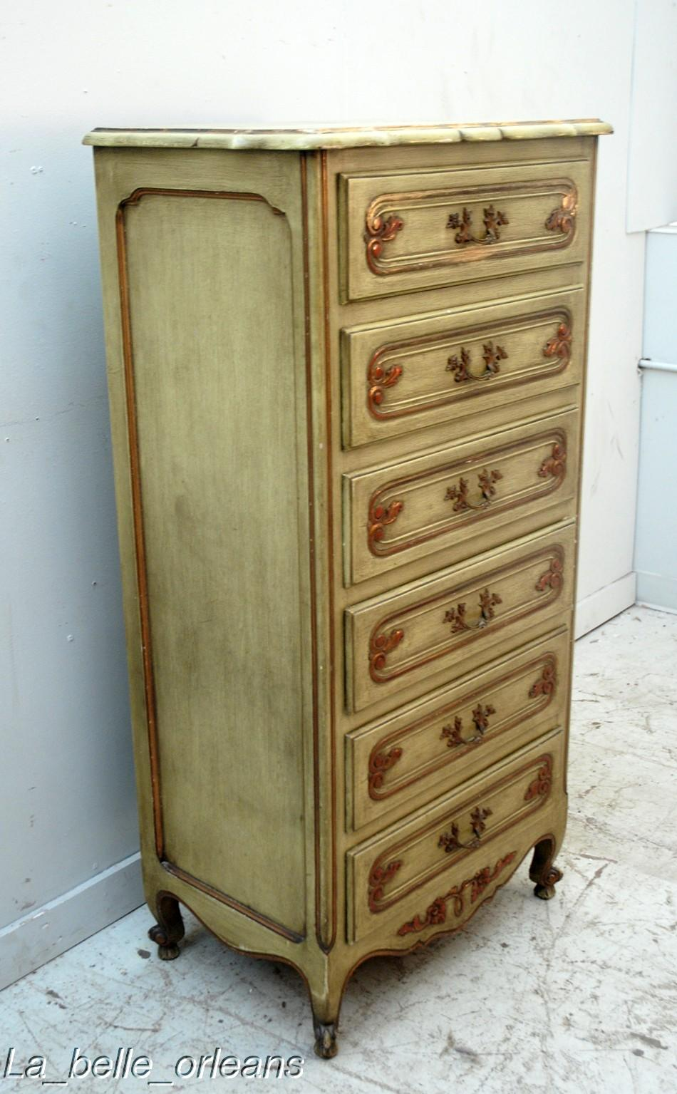 Chic French L Xv Chiffonier With 6 Drawers Orig Patina For Sale Classifieds