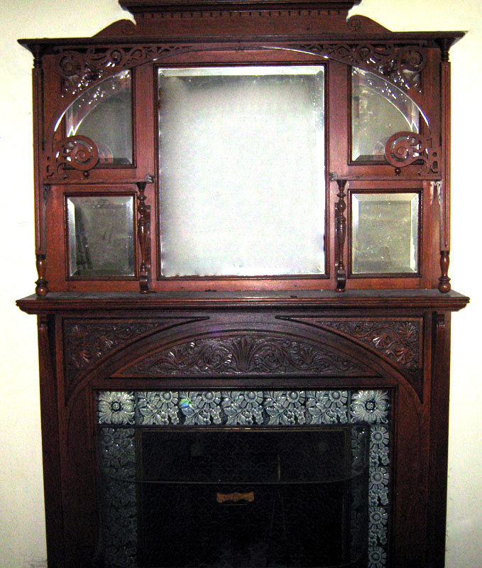 victorian fireplace mantel mantelpiece oak antique for