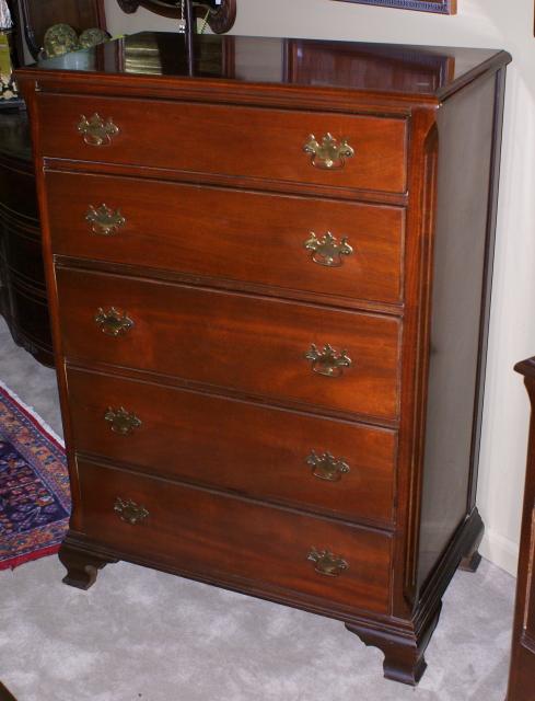 dark mahogany chest of drawers 2