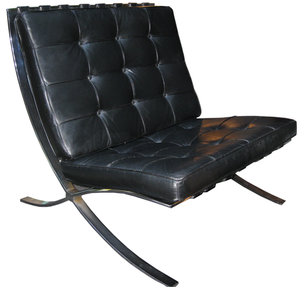 leather chrome chair