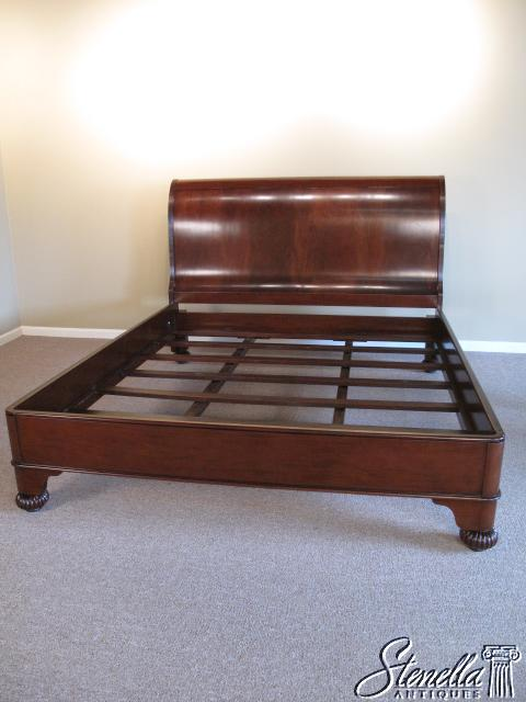 queen size georgian brown mahogany sleigh bed for sale, Headboard designs