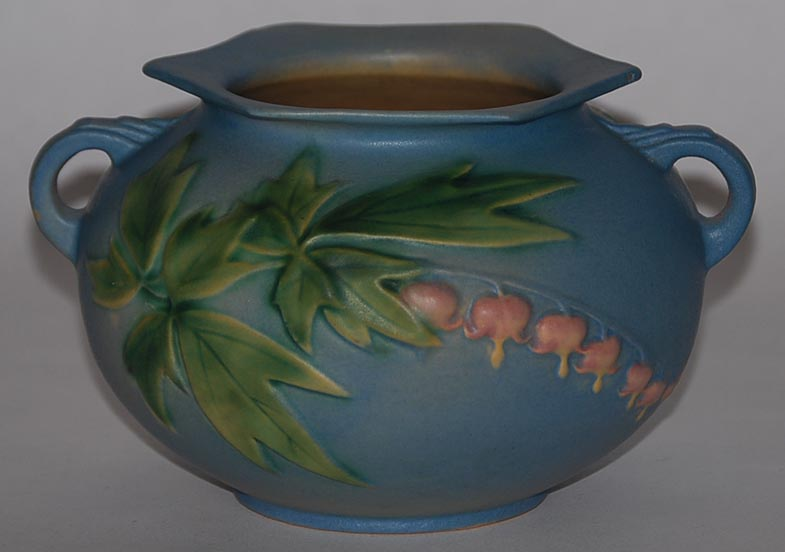 roseville pottery bleeding heart blue bowl for sale
