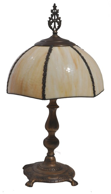 Milk Glass Shade Table Lamp For Sale