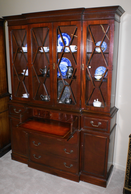 Handsome Mahogany Breakfront Secretary Desk China