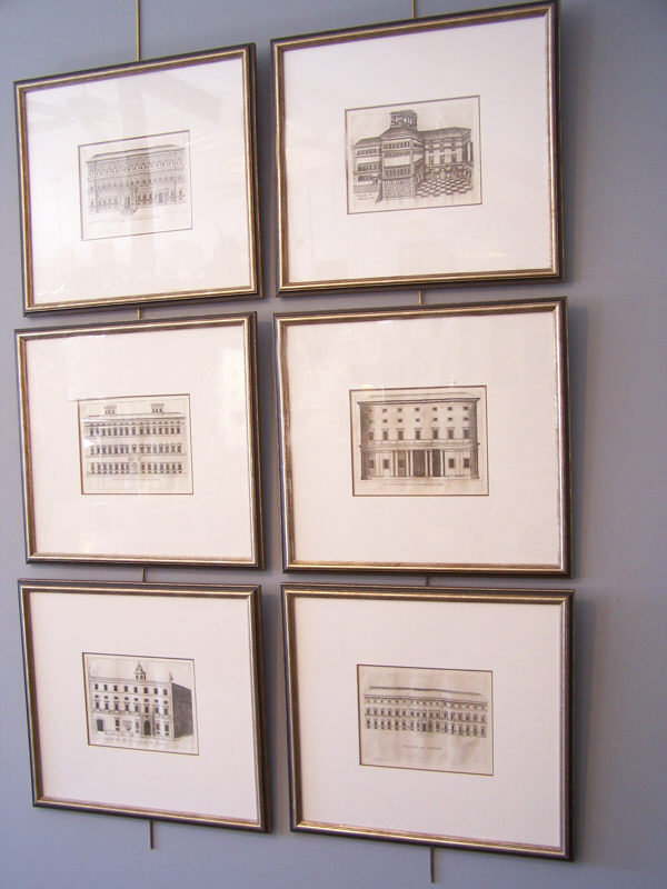 18thc architectural engravings of italian palazzo facades for Print architectural drawings