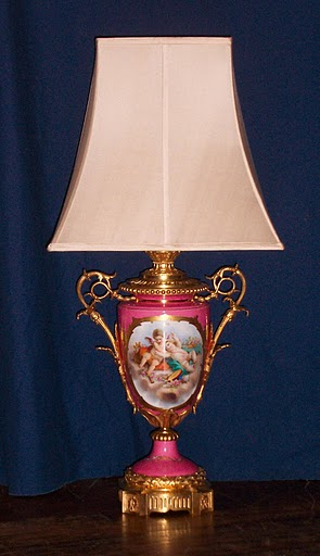 Antique French Lamp In Dubarry Rose A Rare Color And Favorite Of Louis Xvi Court 32 H 12 W 7 Diameter At Base