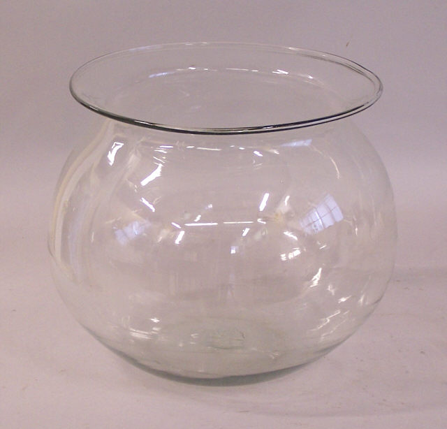 large antique blown glass fish bowl item 5713 for sale