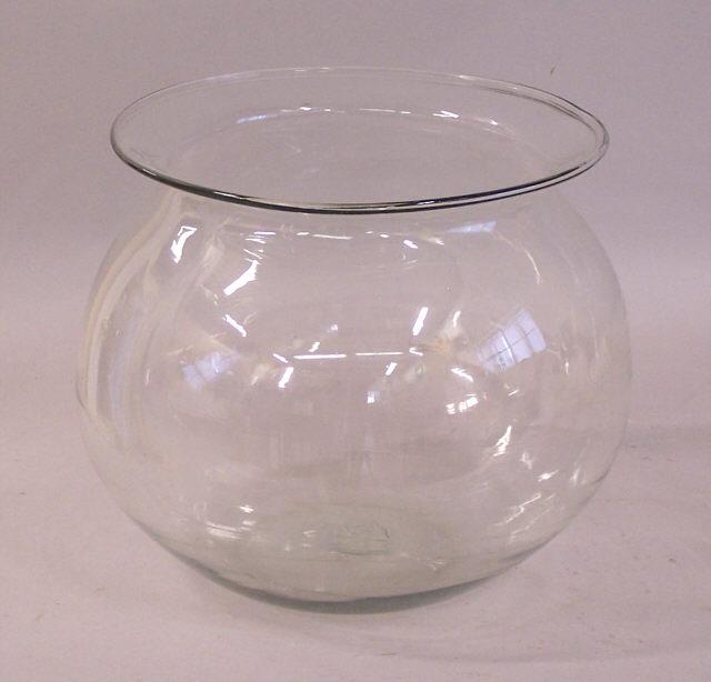 Large Antique Blown Glass Fish Bowl Item 5713 For Sale