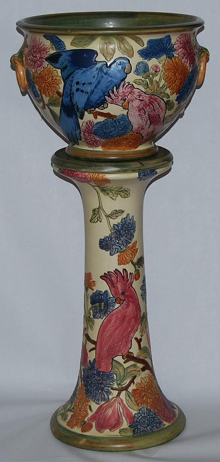Weller pottery flemish pedestal and jardiniere for sale for Jardin isere