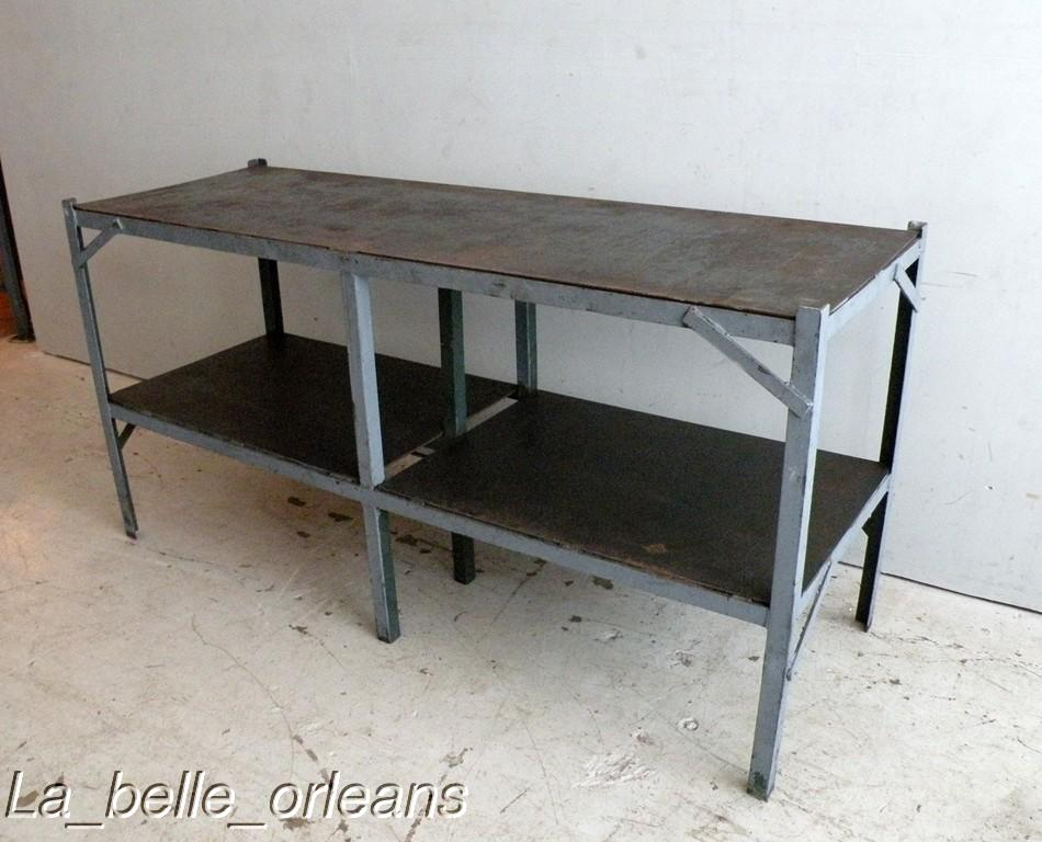Vintage industrial steel work table kitchen l k for sale classifieds - Steel kitchen tables ...
