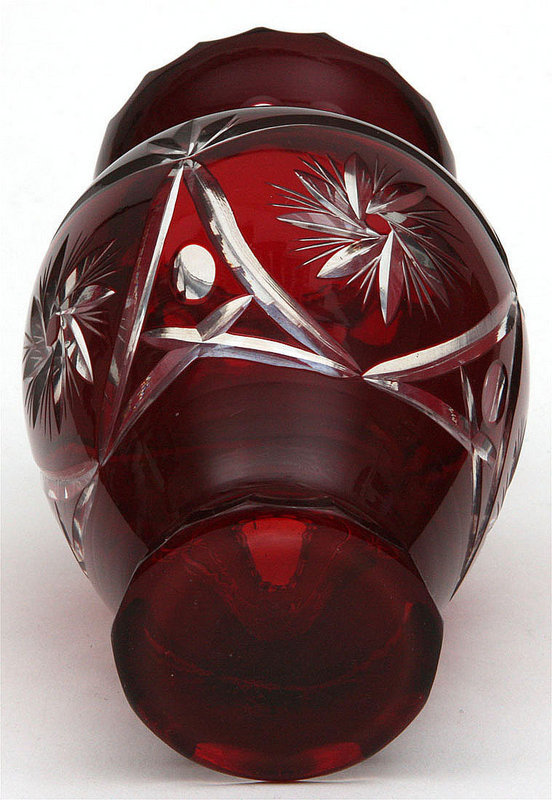 Ruby Red Bohemian Glass Vase For Sale Antiques Classifieds