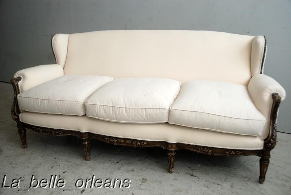Sophisticated Chic French Lxvi Sofa Original Patina For Sale Classifieds