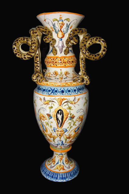 19th Century Italian Faience Vase For Sale Antiques Com Classifieds