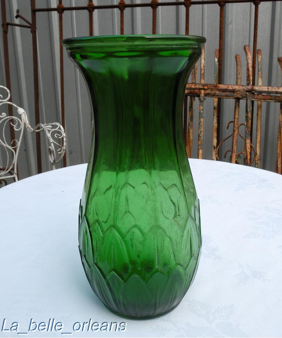 Rare art deco green depression glass marke pat pending for sale a very unusual green depression glass vase in the art deco style with a relieve design of leaves marked on the bottom and reads patdg reviewsmspy